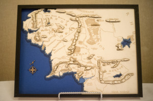 Commissioned Piece: Topographic Middle Earth Map