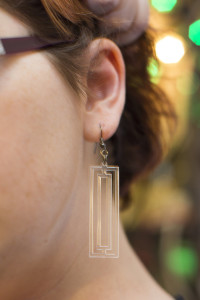 Clear Acrylic Earring – Concentric Rectangles