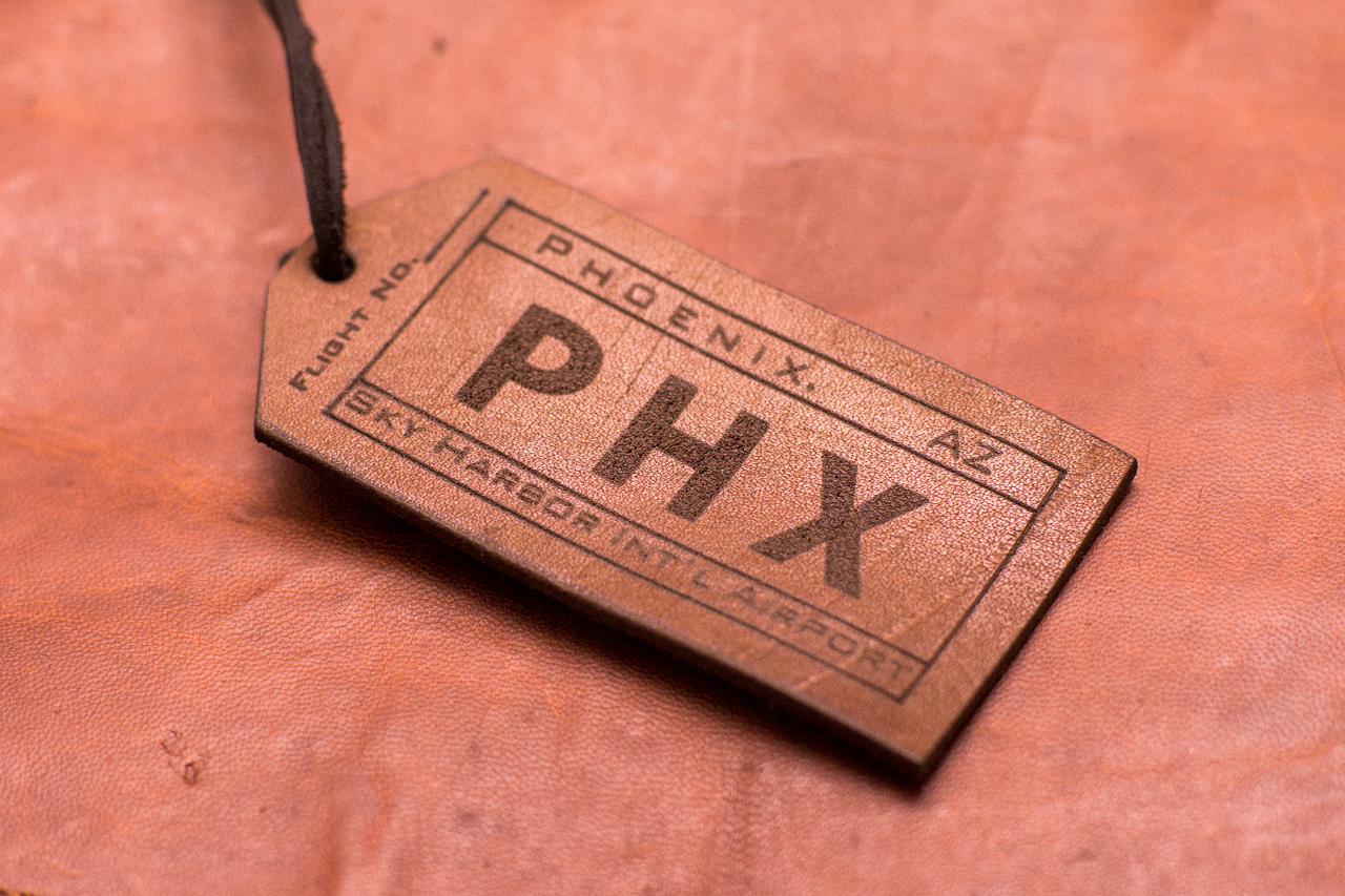 Engraved Leather Luggage Tags