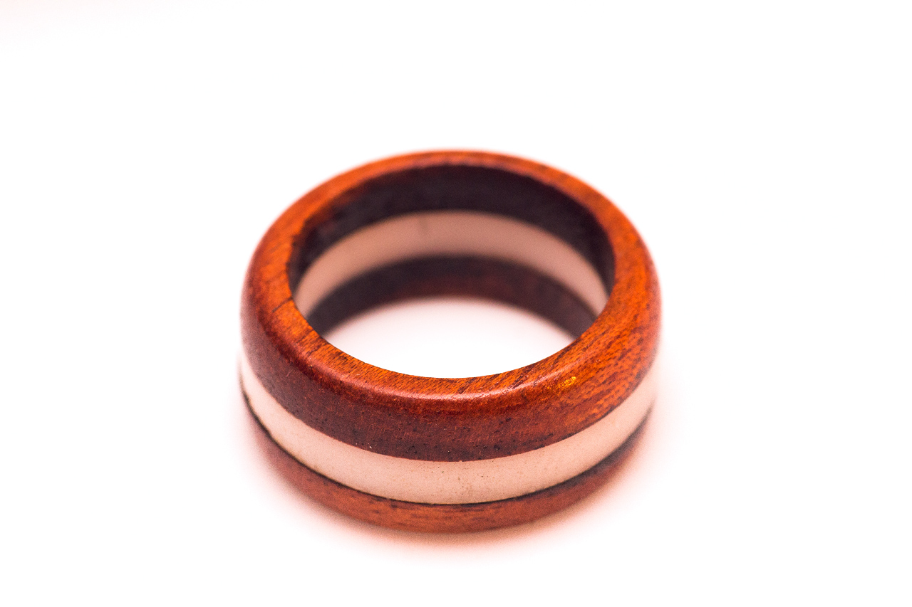 Red Velvet Bloodwood and Acrylic Ring
