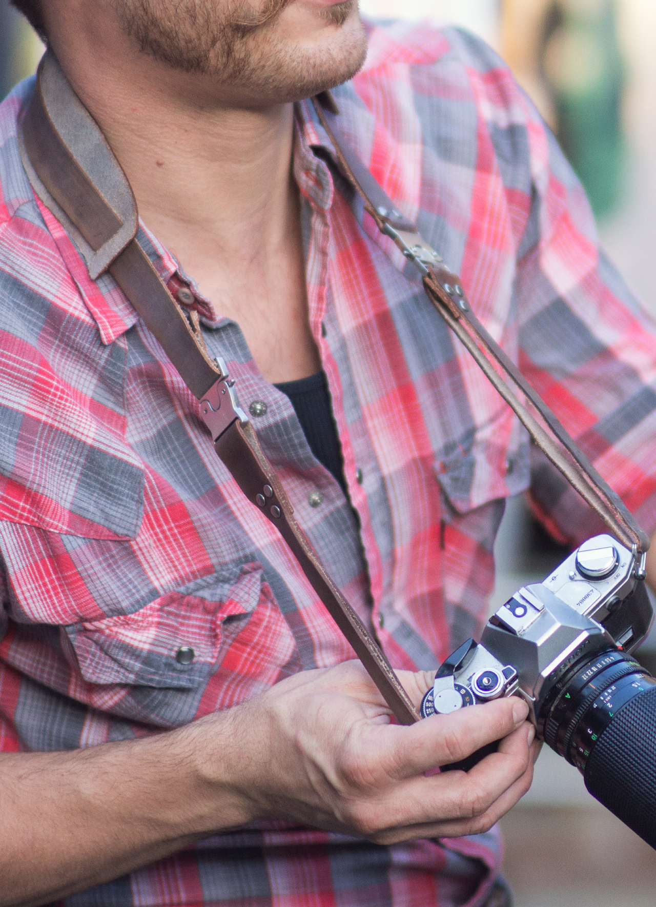 Heavy Duty Leather Modular Camera Strap